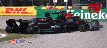 F1   MONZA  Sanción para Verstappen tras el accidente con Hamilton