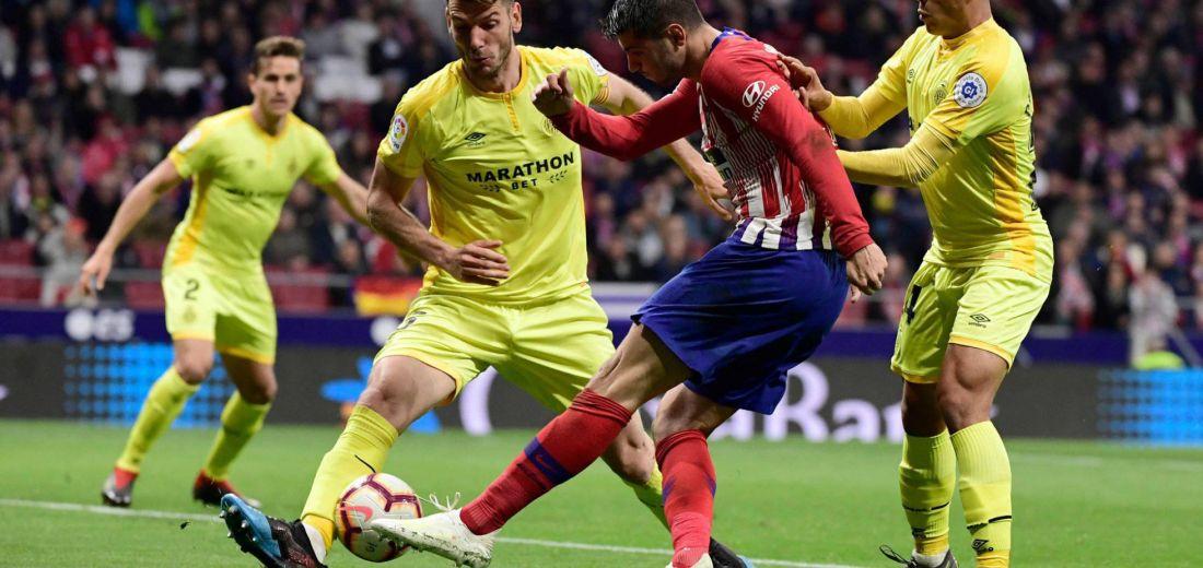 """Morata, la duda del """"Cholo"""" Simeone para su juego frente al Barcelona  el fin de semana."""