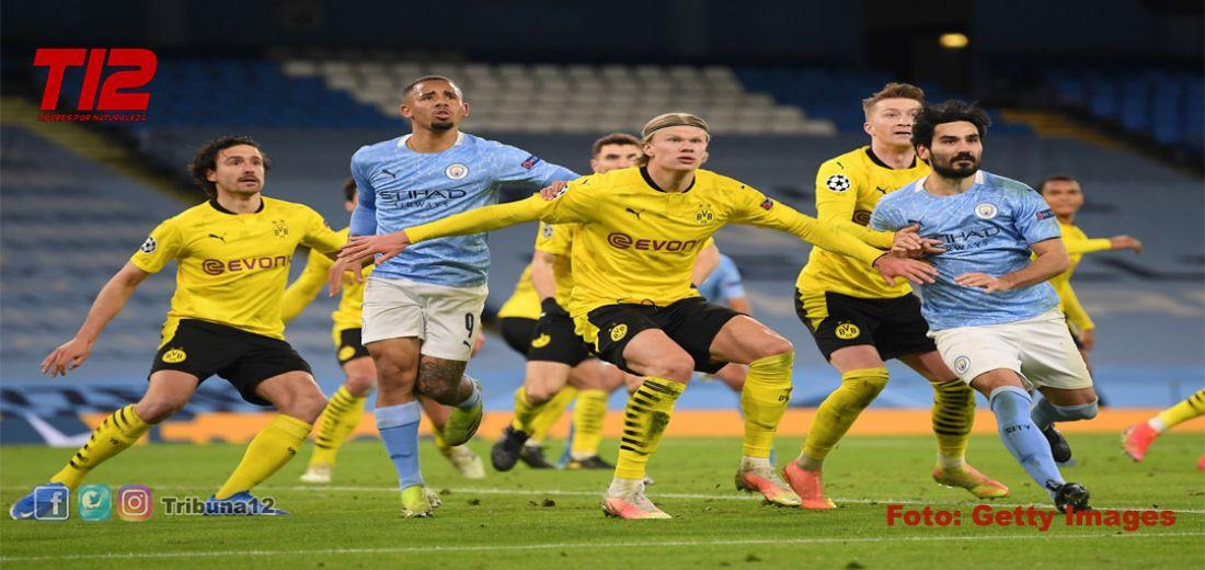 El City fue superior al  Dortmund (1-2) y se metió a semifinales