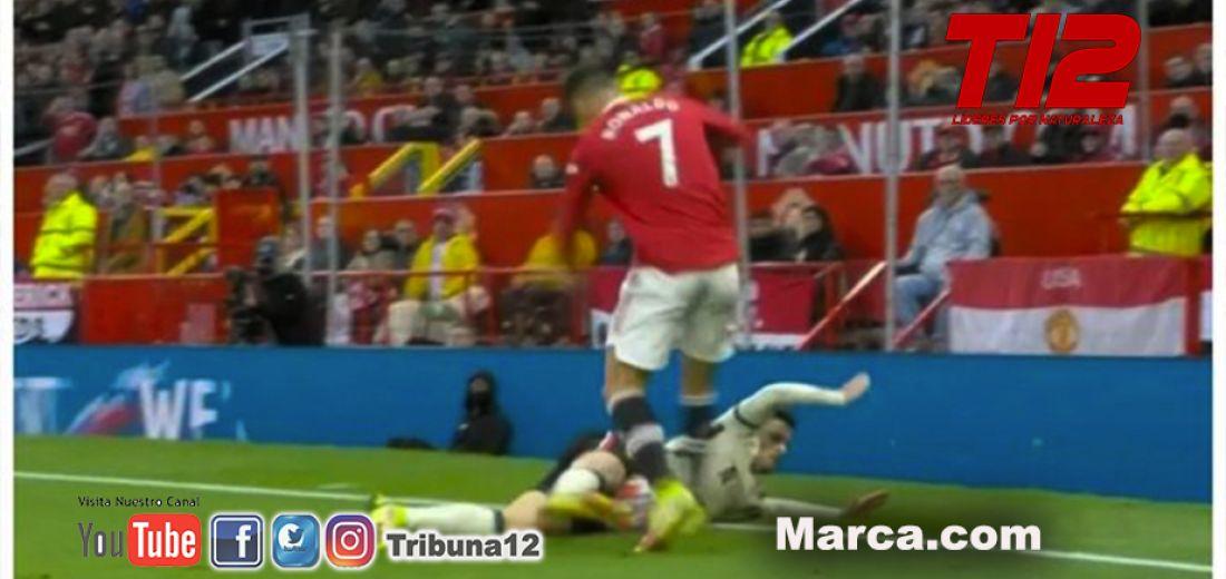 Cristiano se volvió 'loco' tras el 0-5 y se agarró a patadas con un jugador del Liverpool