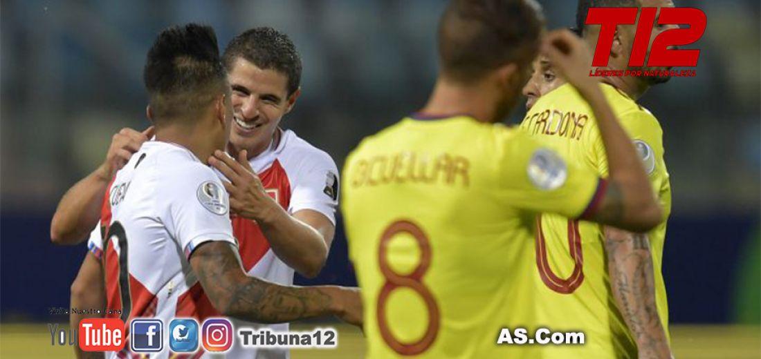 Colombia pierde con Perú en tercera fecha de Copa América