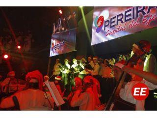 Se marca el inicio de la Navidad en Pereira a ritmo de villancicos