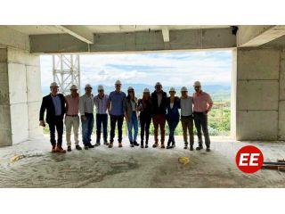 Directivos del Hotel Hilton visitaron los avances de las obras en Pereira