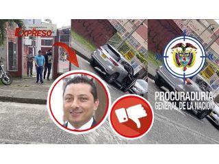 ¿Contralor Milton Chavez de paseo en la camioneta oficial con conductor diferente al designado?