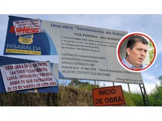 Gobernador Tamayo ¿se perdieron los 11 mil millones de la Vía Pereira - Alcalá?
