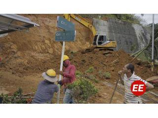 Alcaldía y Diger realizaron acompañamiento tras deslizamiento en Palmar de Villa Verde