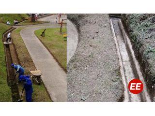 Parque El Hueco de Santa Rosa de Cabal en mantenimiento por Empocabal