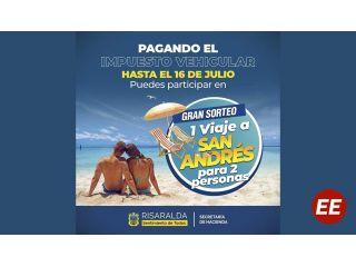 Pagando a tiempo su Impuesto Vehicular participará en el sorteo de un viaje a San Andrés