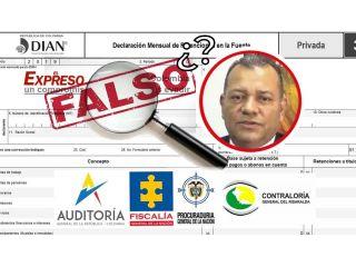 Presunta falsedad en Contraloría Departamental por usar cédula de excontralor para declaraciones ante la DIAN