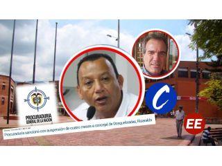 Procuraduría suspende cuatro meses a concejal Miguel Ángel Rave por contratos irregulares