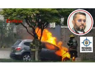 Bomberos de Pereira atienden incendio como espectadores con máquina dañada