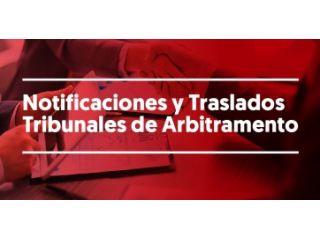 Notificaciones y Traslados Tribunales de Arbitramento