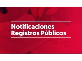 Notificaciones Registros Públicos