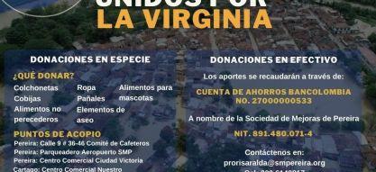 Unidos por La Virginia: Convite de solidaridad
