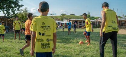 En el 2020 la pelota siguió rodando en Pereira, desde el programa Aprender Jugando