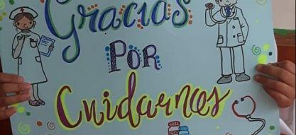 Niños y jóvenes de Pereira agradecen a los héroes en medio de la pandemia