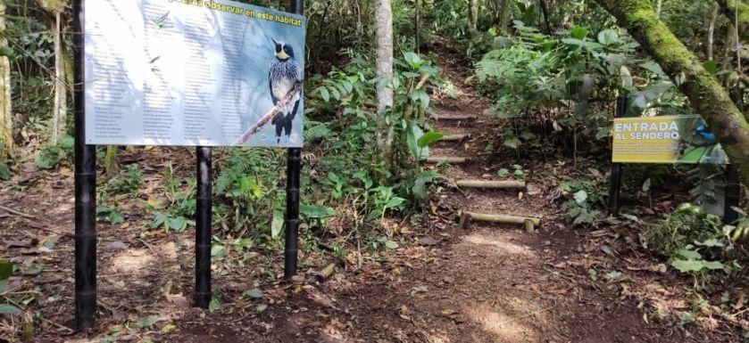 A través de un sendero ecológico el parque El Vergel da a conocer su biodiversidad