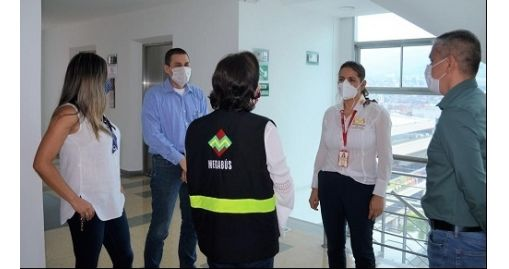 Visita al Megabus para verificar protocolos de Bioseguridad